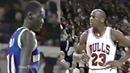 Michael Jordan Revenge Dunk on 7-7 Manute Bol: ''Do Not Try Block Me Again!''