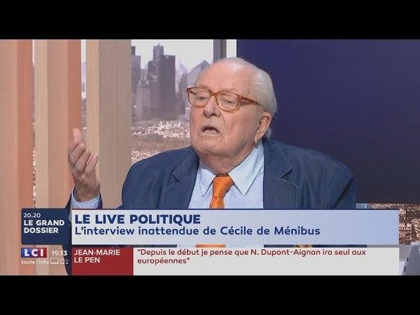 Pour JM.Le Pen,on sera remplacés par des Africains à cause de notre faible natalité (LCI,3/6/18,19h)