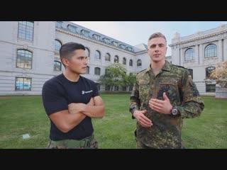 German Navy cadet Stephen in the U.S. Naval Academy. Немецкий курсант Стефен учится в Военно-морской академии США.