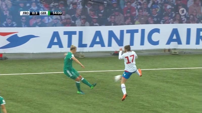 Frauenfussball WM 2019 Qualifikation Färöer Deutschland 2 Halbzeit