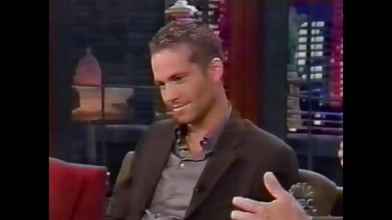 Paul Walker interview Jay Leno 2003