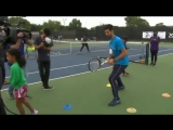 nole visits young players on South Side Chicago
