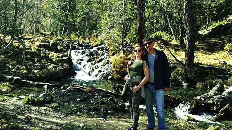 Живые фото Архыз Река София Денис и Марина
