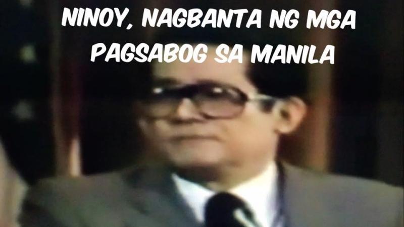 Ninoy Aquino, nagbanta ng mga pagsabog sa Manila