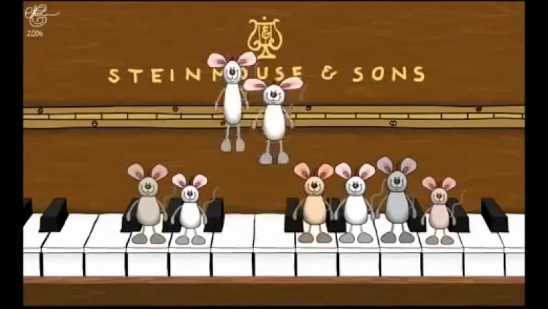 С Днем Рождения Прикольные мышки играют на пианино Музыкальное поздравление Happy
