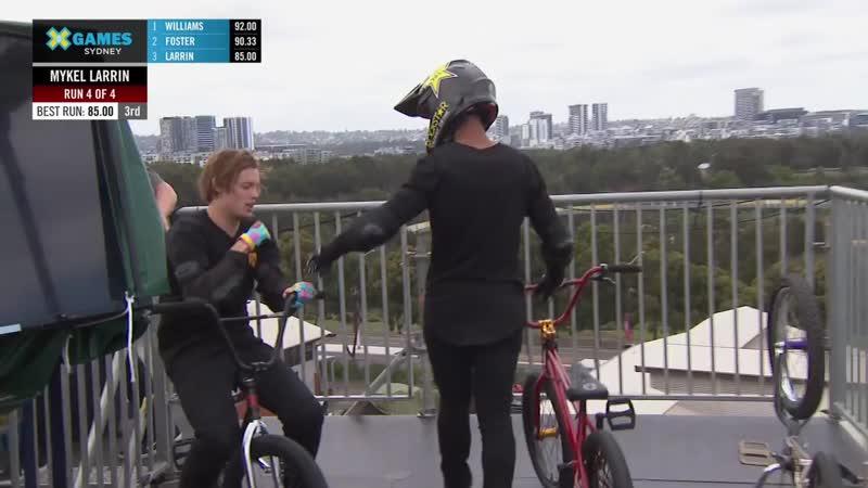 Mykel Larrin wins bronze in BMX Big Air _ X Games Sydney 2018