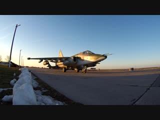 Тренировочные полеты летчиков ЮВО на штурмовиках Cу-25СМ3 на Кубани