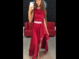 вечернее платье красное