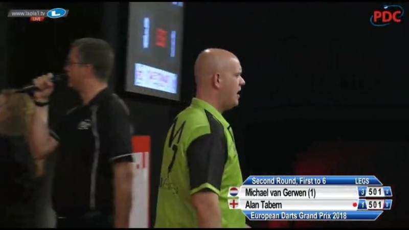 2018 European Darts Grand Prix Round 2 van Gerwen vs Tabern