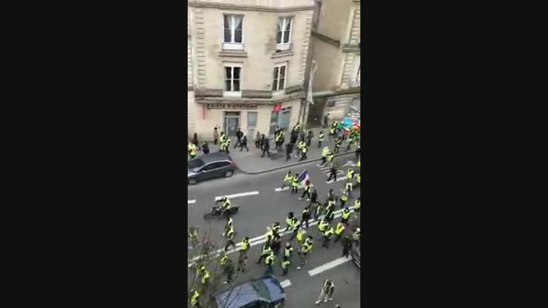 BORDEAUX mobilisation en BAISSE très nette daprès Castaner