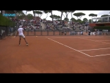 21 Grand Slams and 134 titles all on one practice court... - - @RafaelNadal had a surprise hitting partner today in Rome. - - ib