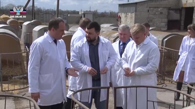Глава ДНР Денис Пушилин посетил агрофирму Горняк в Старобешевском районе