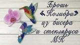 Брошь из бисера и стекляруса Колибри Мастер-класс по изготовлению броши Humming-bird brooch