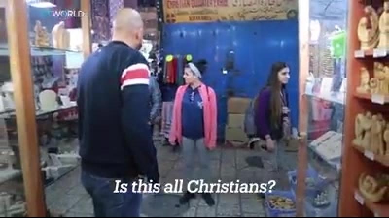 Chrétiens et musulmans souffrent ici ce n'est pas la justice ici ce n'est pas une démocratie ici Les chrétiens de Jérusale