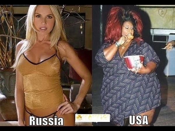Comparison of USA and Russia / Сравнение США и России
