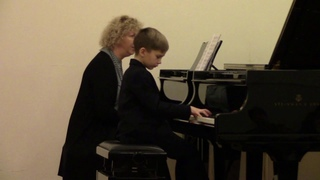 12/17/2018 Master class by M. Marchenko with A. Dontsov in the J. Haydn Children's Music School