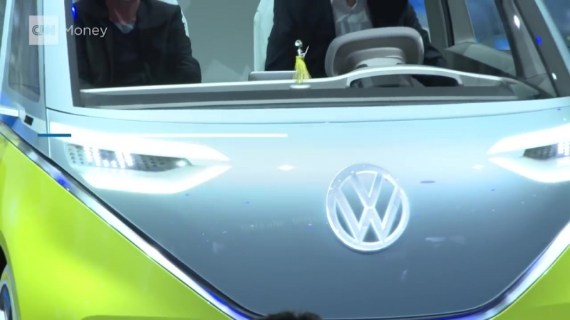 Retro Volkswagen bus gets electric touch