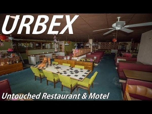 ABANDONED Untouched Restaurant Motel With EVERYTHING Still Inside !