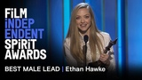 ETHAN HAWKE wins Best Male Lead for FIRST REFORMED at the 2019 Film Independent Spirit Awards