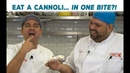 The Cake Boss Challenges Frankie: Eat a Cannoli... IN ONE BITE!