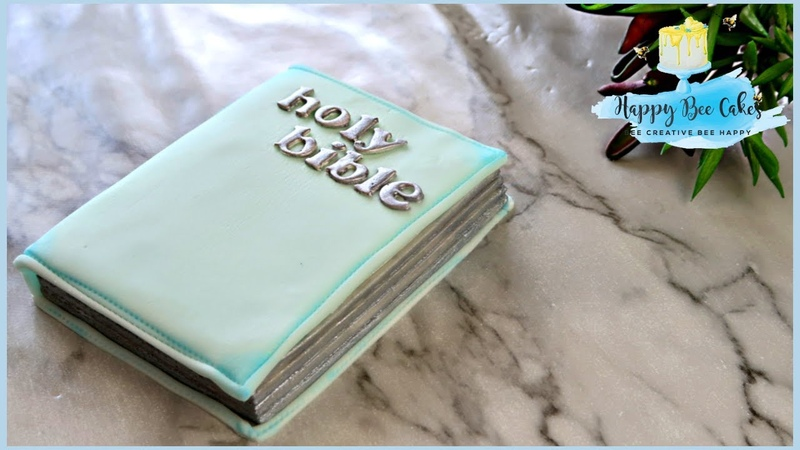 BIBLE cake topper TUTORIAL | CHRISTENING BAPTISM CAKE