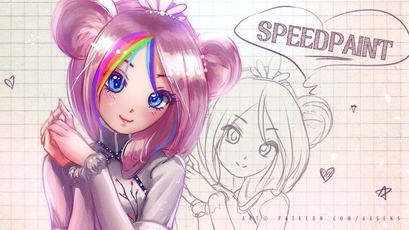 Cute chibi ID mascot (Speedpaint Process) | Axsens