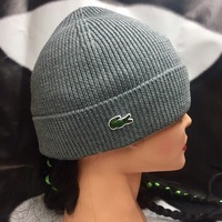 Шапка Lacoste Turned Edge Ribbed Wool Beanie RB3502   00   SVY Galaxite  Chine f08c05cbd41