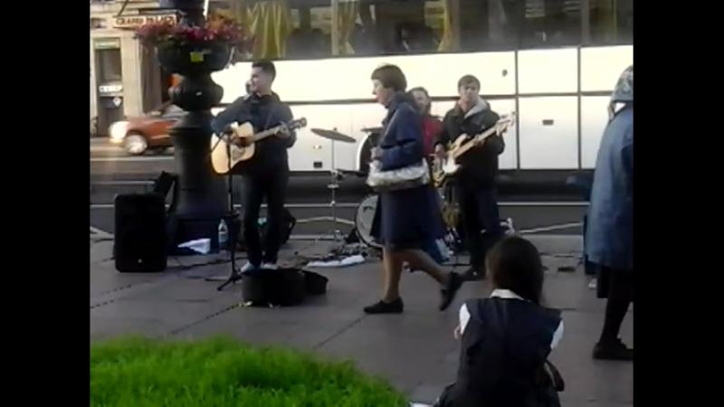 Street band Восьмиклассница cover Кино Петербург смотреть онлайн без регистрации