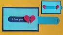 Hướng dẫn làm thiệp kéo hình trái tim Valentine day Dzi's house