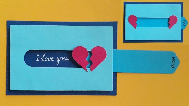 Hướng dẫn làm thiệp kéo hình trái tim | Valentine day | Dzis house