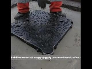 Современные зарубежные технологии ремонта канализационного люка