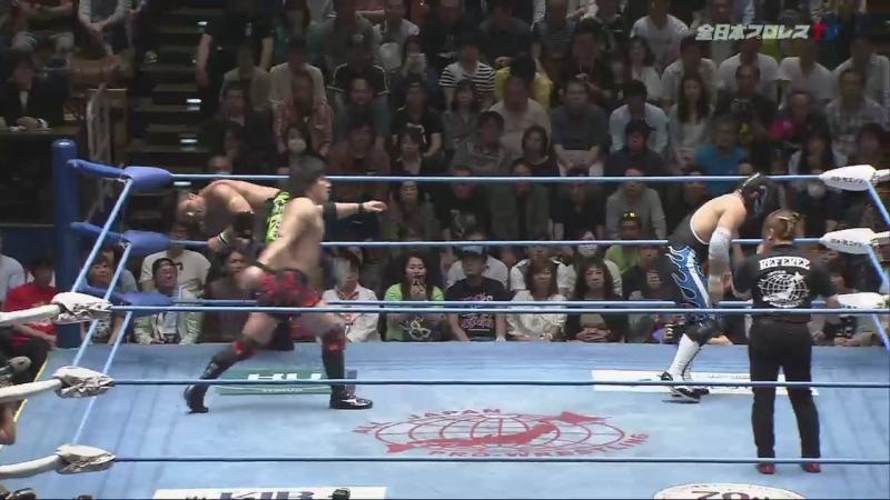 Atsushi Aoki, Yusuke Okada vs. Ishikiri, Koji Iwamoto (AJPW - Champion Carnival 2018 - Day 14)