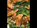 Тёплый салат с кабачком-гриль и сёмгой.