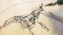 作画風景09 襲撃される飛空艇団 EAT-MAN #18 20_21P 下描き・ペン入れ