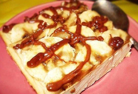 Творожено-банановый десерт на завтрак!