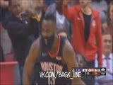 James Harden DESTROYS JaVale MacGe and 3+1 POINTER