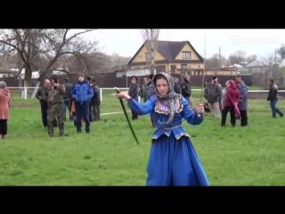 Здесь убийственно все - и острые казачьи шашки, и красота русской девушки.