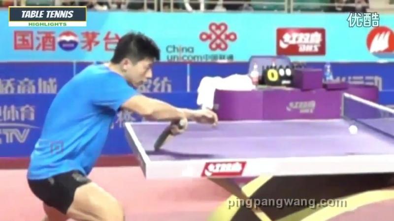 Ma Long Backhand Flick Technique Slow Motion 2016 Table Tennis HD