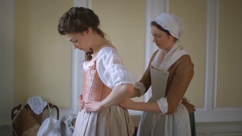 Как одевалась английская леди в XVIII веке. Видео: National Museums Liverpool.