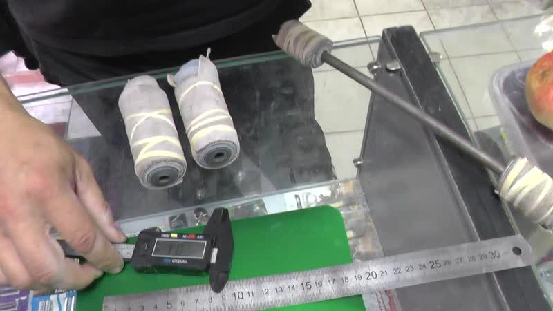 Олег ломает жёсткую ст.3 в длине 155мм и диаметром 10мм