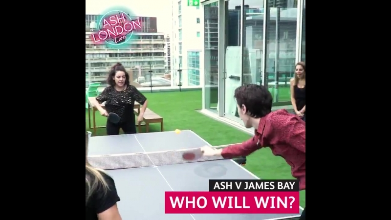 ITS THE GAME OF THE YEAR!! - @JamesBayMusic takes on Ash in a game of table tennis after his AMAZING LiveAndUpClose performance!