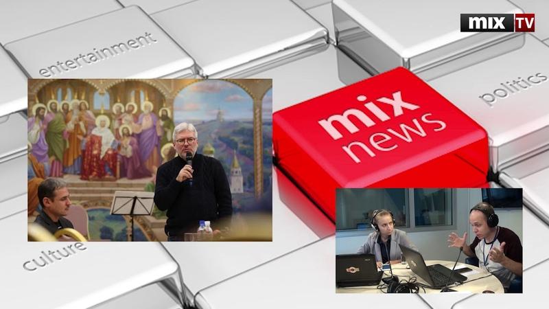 Российский писатель и литературовед Евгений Водолазкин в программе Абонент доступен MIXTV