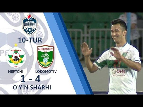 Superliga. 10-tur. Neftchi - Lokomotiv - 1:4   O'yin sharhi (04.05.2018)