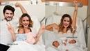 Фахрие Эвджен родила двойню и Бурак Озчивит рядом.