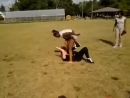 BAREFOOT BLACK GIRL FIGHTS WHITE CHICK