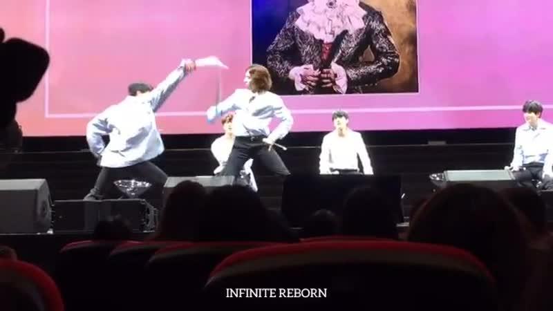 181124 INFINITE Fan Meeting in Macau - - Sword battle between Yeol and Dongwoo - - 인피니트 INFINITE 동우 우현 성열 엘 명수 성종