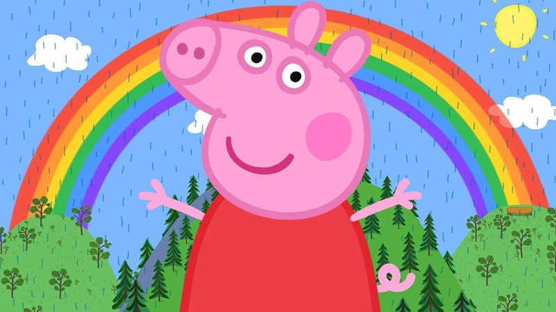 Свинка Пеппа на русском все серии подряд   Великая радуга   Мультики