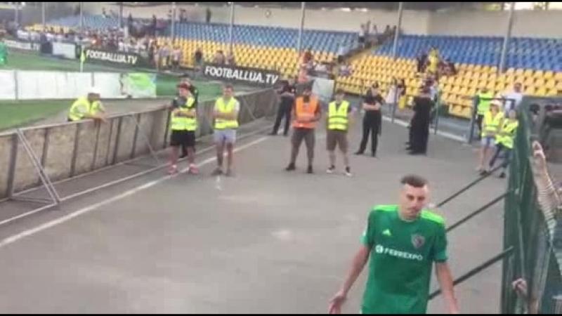 ФК Олександрія Ворскла Розмова з футболістами після гри
