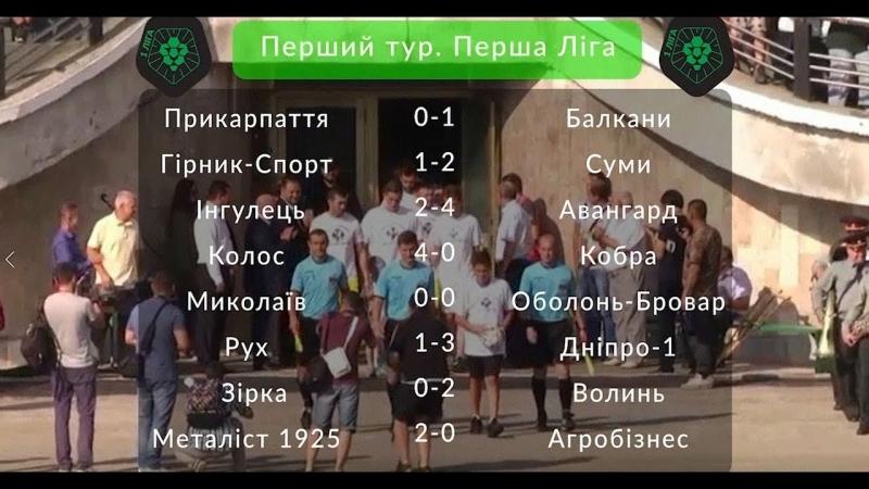 ПФЛ - Всі голи першого туру Першої ліги України 201819