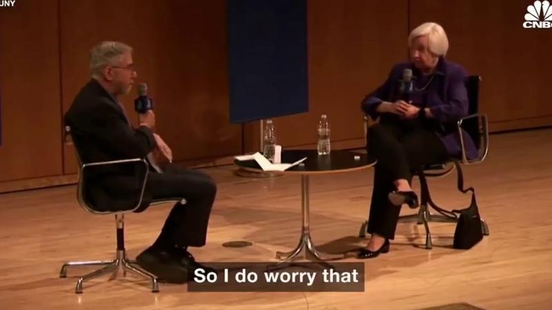 Глава Федерального резерва признала, что ждет кризис и где его ждать.